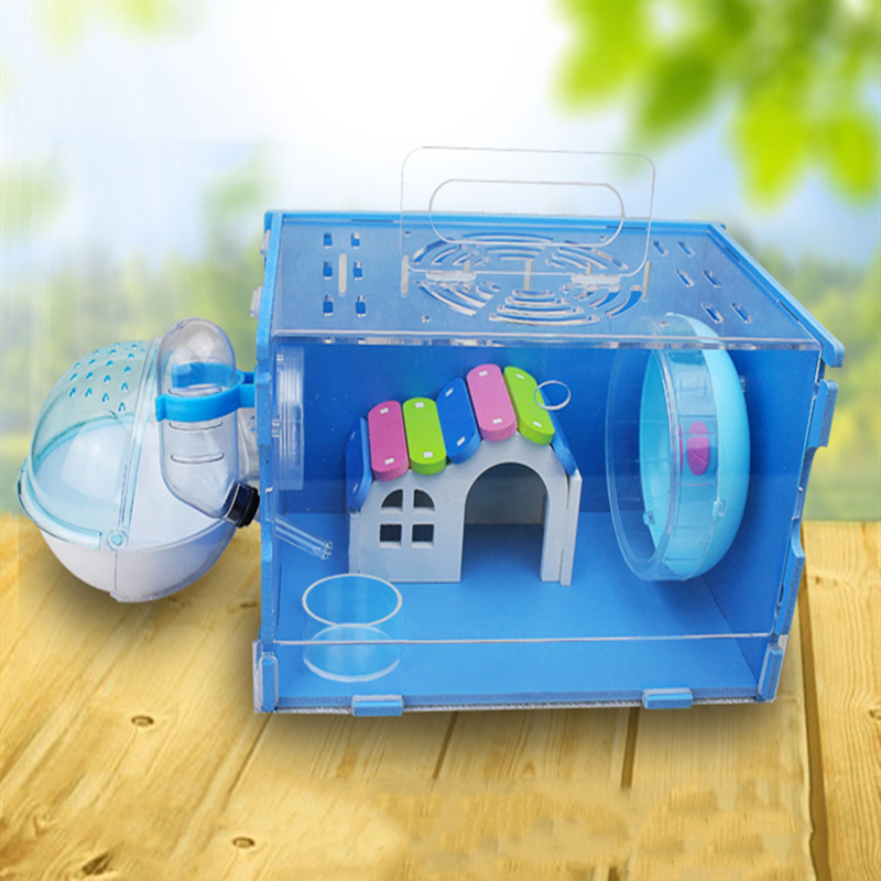 Hamster Cage Acrylic Transparent Double-decker Villa Hamster Supplies Golden Bear Super Villa Luxury Cage