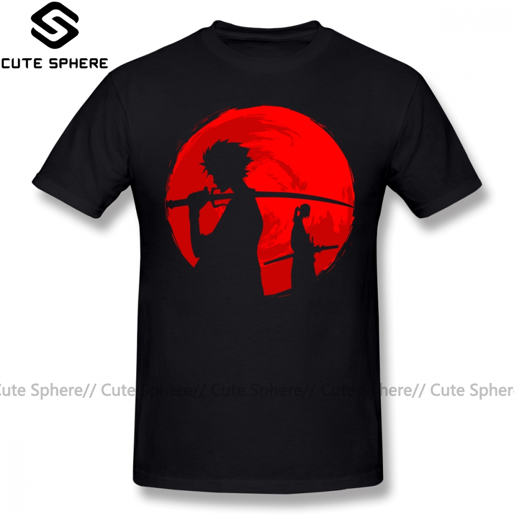 Samurai Champloo T Shirt Samurai Sunset T-Shirt Streetwear Plus Size  Tee Shirt Awesome Male Short Sleeves Print Tshirt