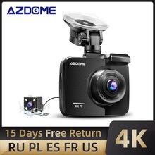 AZDOME – caméra de tableau de bord GS63H 4K, double objectif, Wifi, HD 1080P, Vision nocturne, capteur G, Dashcam, enregistreur vidéo de voiture, GPS intégré