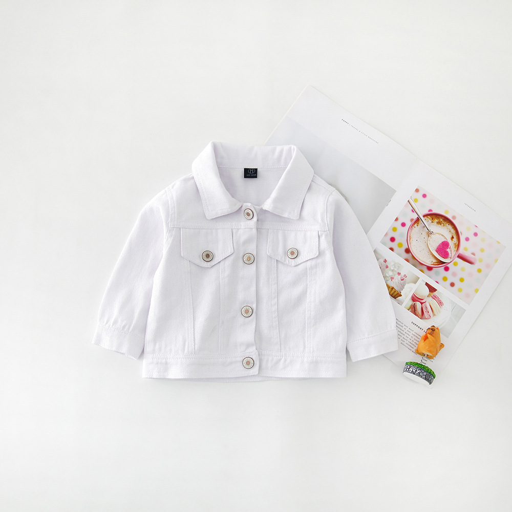 Hf5b9ff408dfa40f5898b23e4ab3d337fP - Brand New Baby Girls Boys Candy Color Denim Jacket Kids Cotton Casual Jeans Jackets Children Clothes 1-10age