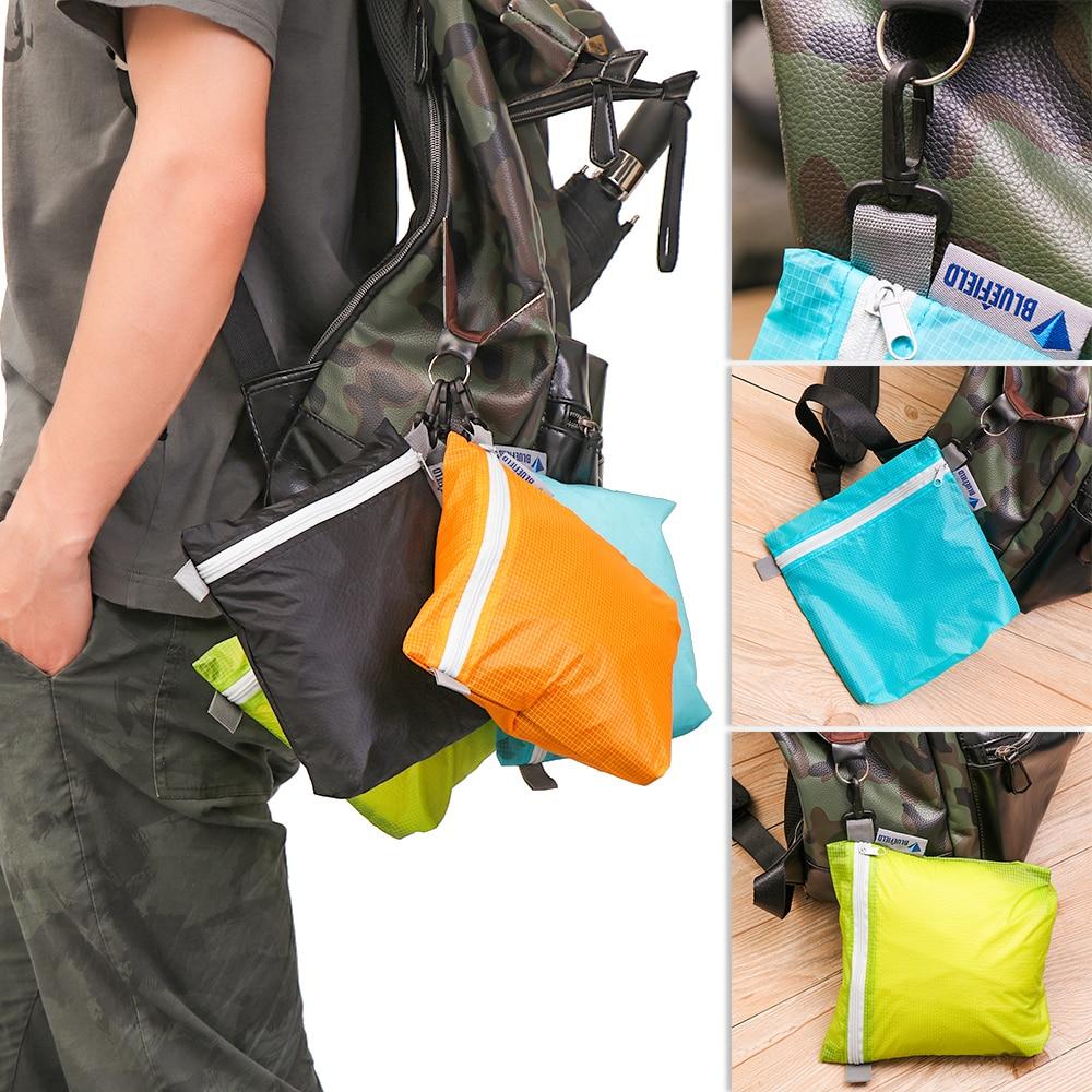 1 шт., 4 цвета, нейлоновое покрытие, силиконовая ткань, водонепроницаемая, молния, крючок, сумка для хранения, открытый, кемпинг, туризм, карман...