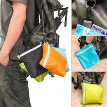 Bolsa de armazenamento para gancho, 1 peça de 4 cores de tecido de silicone revestido de nylon à prova d 'água com zíper, organizador de acampamento ao ar livre, caminhadas, bolso