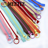 20pcs Meetee 3# Close-End Resin Zippers 15/20/30/40cm Closure Sewing Zip Pull Ring Head for Bags Garment Tailor Repair Crafts