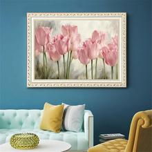 5D Diamond Painting Tulip Paints by Numbers Frameless DIY  Embroidery Cross Stitch Home Decoration