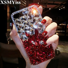 XSMYiss Bling Crystal Diamonds Rhinestone 3D Stones Phone Case Cover For Huawei P8 P9 P10 P20 P30 PLUS LiTE Mate 10 20 Pro Lite(China)