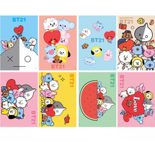 BT21 Posters Poster Art Prints for Home Wall Decor, Set of 8 PCS, 11.5in x16.5in