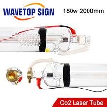 Лазерная трубка WaveTopSign Co2 WT2000 180 Вт, лазерная стеклянная трубка длиной 2000 мм диаметром 80 мм, используется для Co2 лазерная резка, гравировальны...