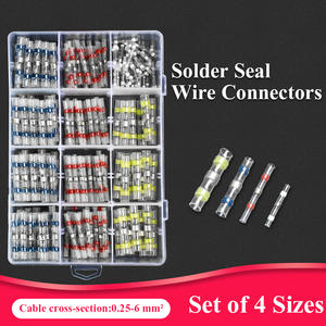 20/50/100/200/220PCS Solder Seal Wire Connectors Kit Practical Electrical Waterproof Heat Shrink Butt splice Terminals Insulated