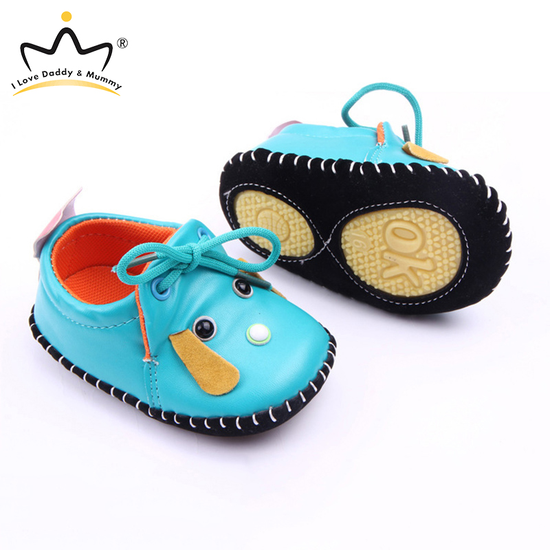 New Baby Shoes Sneakers Cute Dog PU Leather Newborn Toddler Boy Girl Shoes First Walkers Anti-slip Sole Boys Girls Shoes