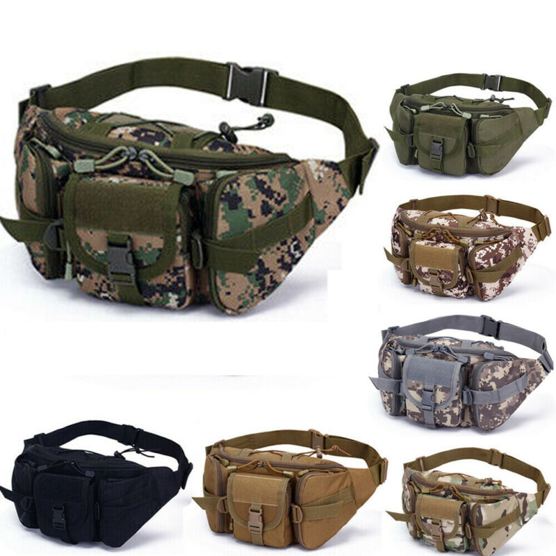 1PC Mens Military Cycling Waist Fanny Pack Bum Belt Bag Pouch Travel Hip Purse