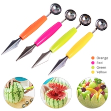 1Pcs Creative Fruit Carving Knife Watermelon Baller Ice Cream Dig Ball Scoop Spoon Baller DIY Assorted Cold Dishes Tool practical chic quality melon scoop and baller