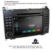 2din راديو تلقائي مشغل أسطوانات للسيارة الوسائط المتعددة لمرسيدس بنز B200 الفئة Ab W169 W245 فيانو فيتو W639 العداء W906 والملاحة GPS USB