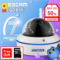 ESCAM Speed QD800 WIFI ONVIF HD 1080P P2P Private Cloud Waterproof Security WiFi IP Camera Infrared Waterproof Day/Night Vision