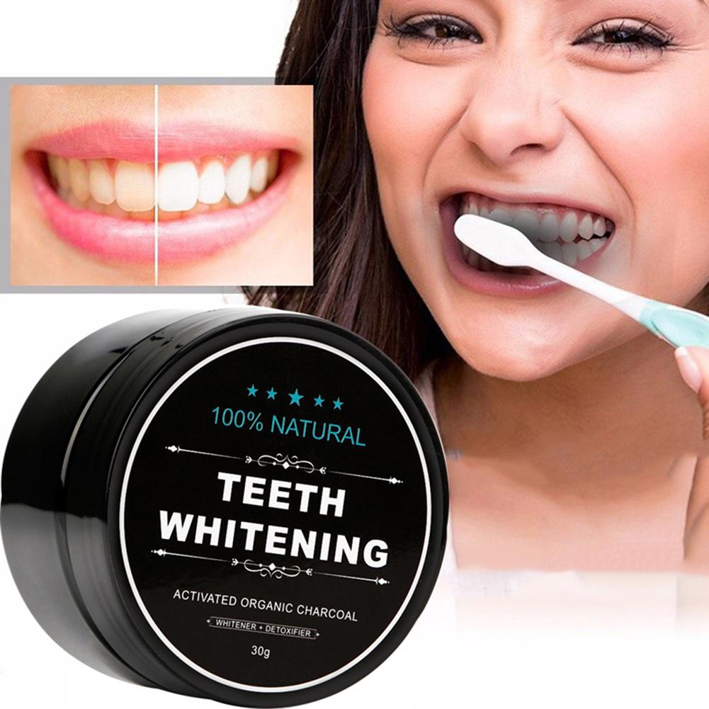 1Pcs 30g Teeth Whitening Powder Smoke Coffee Tea Stain Remove Bamboo Activated Charcoal Powder Oral Hygiene Dental Tooth Care