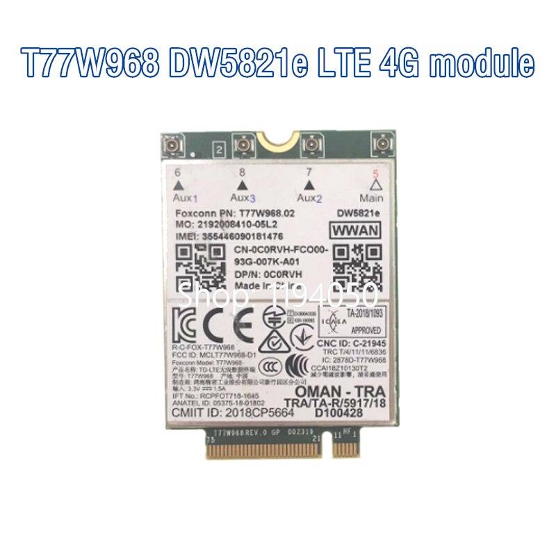 T77W968 для Dell DW5821e LTE Cat16 GNSS 5G WWAN карты Модуль для широты 5420 5424 7424 прочный Latitude 7400 / 7400 «2 в 1»