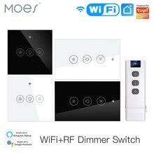 Neue WiFi RF Smart Licht Dimmer Schalter 2/3Way Muilti-Control Smart Leben/Tuya APP Control Arbeitet mit Alexa Google Stimme Assistenten