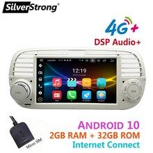 Android10,Bluetooth רכב רדיו, עבור פיאט 500,4G מודם אינטרנט, fiat500 אנדרואיד, 32GB ROM, אפשרות DVR TPMS