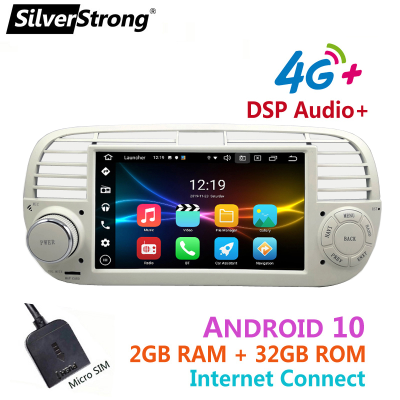 Android10,Bluetooth Car Radio,for FIAT 500,4G Modem Internet,fiat500 Android,32GB ROM,Option DVR TPMS