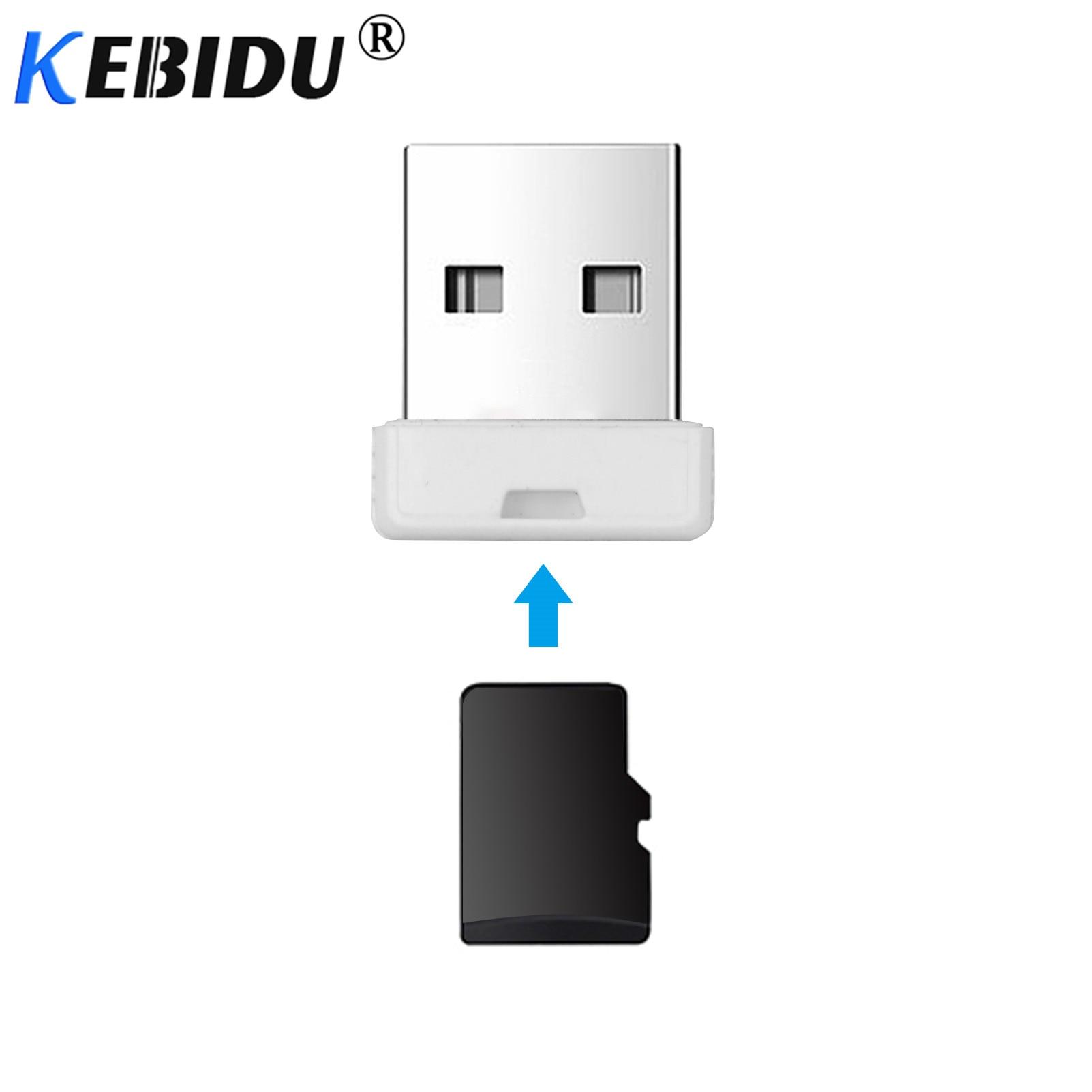 Kebidu mini leitor de cartões, super rápido, usb 2.0, micro sd/sdxc, tf, leitor de cartões, adaptador de alta qualidade para computador
