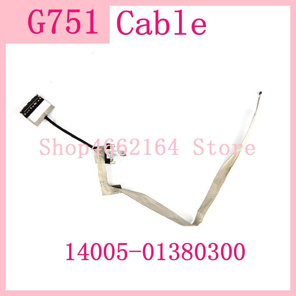 G751 14005-01380300 NonTouch EDP CABLE For <font><b>ASUS</b></font> <font><b>ROG</b></font> G751 G751J G751JM G751JL G751JY <font><b>G751JT</b></font> Laptop NEW original Cable Test ok image