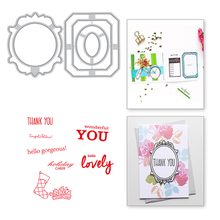 Eastshape Frame Clear Stamps and Metal Cutting Dies Scrapbooking 2019 New Craft Set DIY Embossing Stencils
