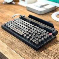 Schreibmaschine Tastatur Drahtlose Bluetooth RGB Bunte Hintergrundbeleuchtung Retro Mechanische Tastatur für Handy Tablet Laptop GK99