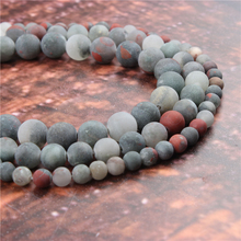 Wholesale Fashion Jewelry African Snow Stone 4/6/8/10 / 12mm Suitable For Making Jewelry DIY Bracelet Necklace