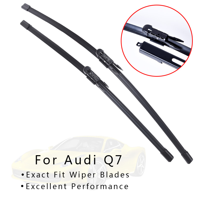XYWPER Wiper Blades for Audi Q7 2006 2007 2008 2009 2010 2011 2012 2013 2014-2017 Car Accessories Soft Rubber Windscreen wipers