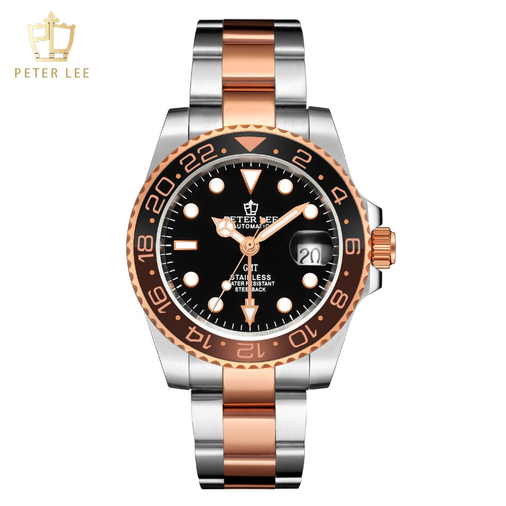Hf5bb821f960e4336a73e2db9df693f5fj Best Watches For Men   PETER LEE Automatic Watch   Classic Ceramic bezel luxury daydate 40mm mechanical men watches noctilucous stainless steel rose gold men automatic watch