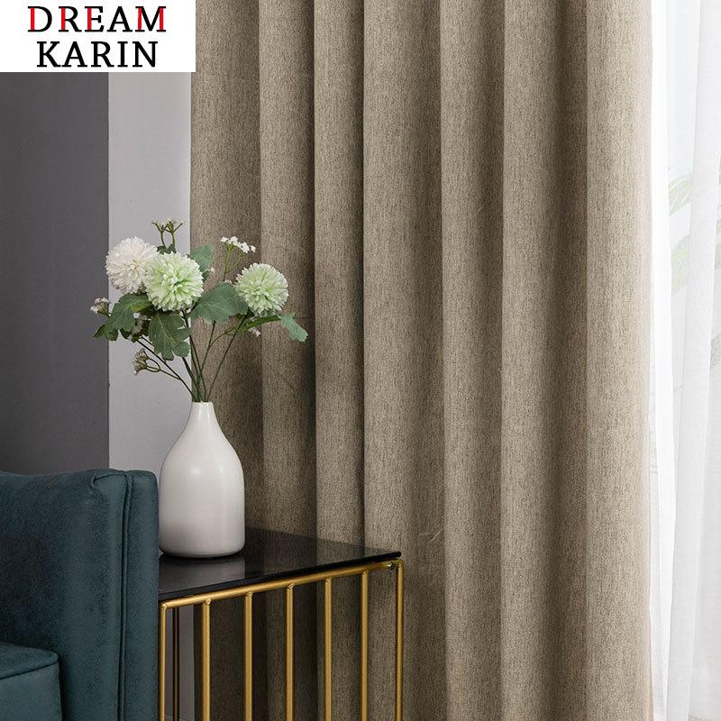 Cortinas blackout moderno para sala de estar quarto cortinas para janela cor sólida tratamento cortinas blackout terminado personalizado