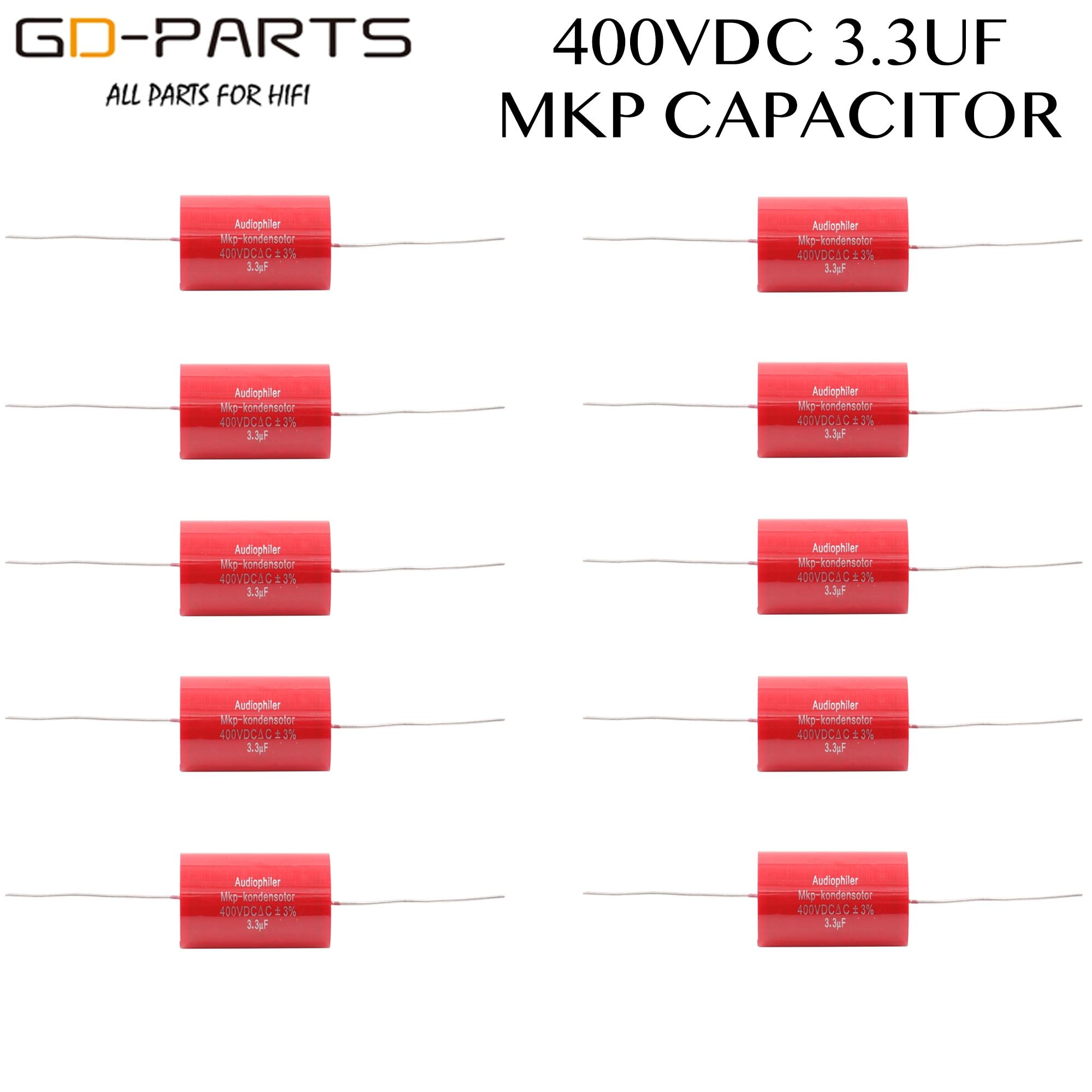 3.3uf 400VDC Axial Audiophiler MKP Coupling Capacitor Audio Grade For Tube Guitar AMP Speaker Crossover HIFI AUDIO DIY