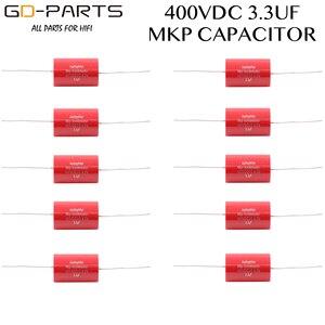 Image 1 - 3.3uf 400VDC Axial Audiophiler MKP sprzęgło kondensator Audio klasy dla rury wzmacniacz gitarowy głośnik Crossover HIFI AUDIO DIY