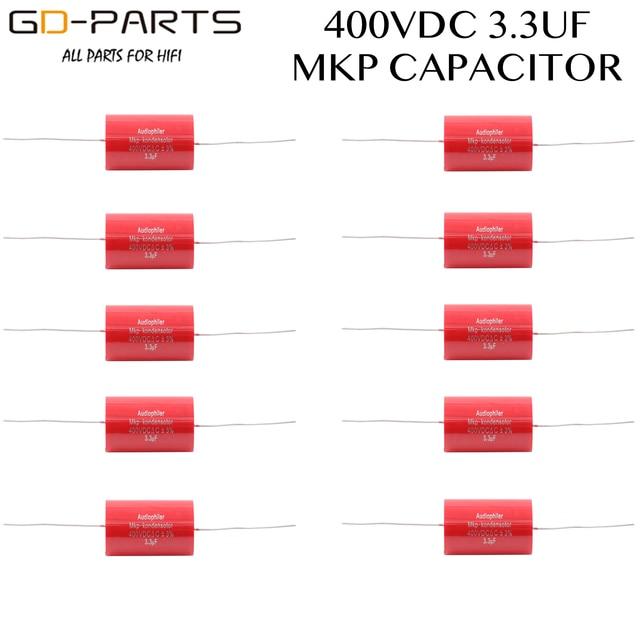 3.3uf 400VDC Axial Audiophiler MKP sprzęgło kondensator Audio klasy dla rury wzmacniacz gitarowy głośnik Crossover HIFI AUDIO DIY