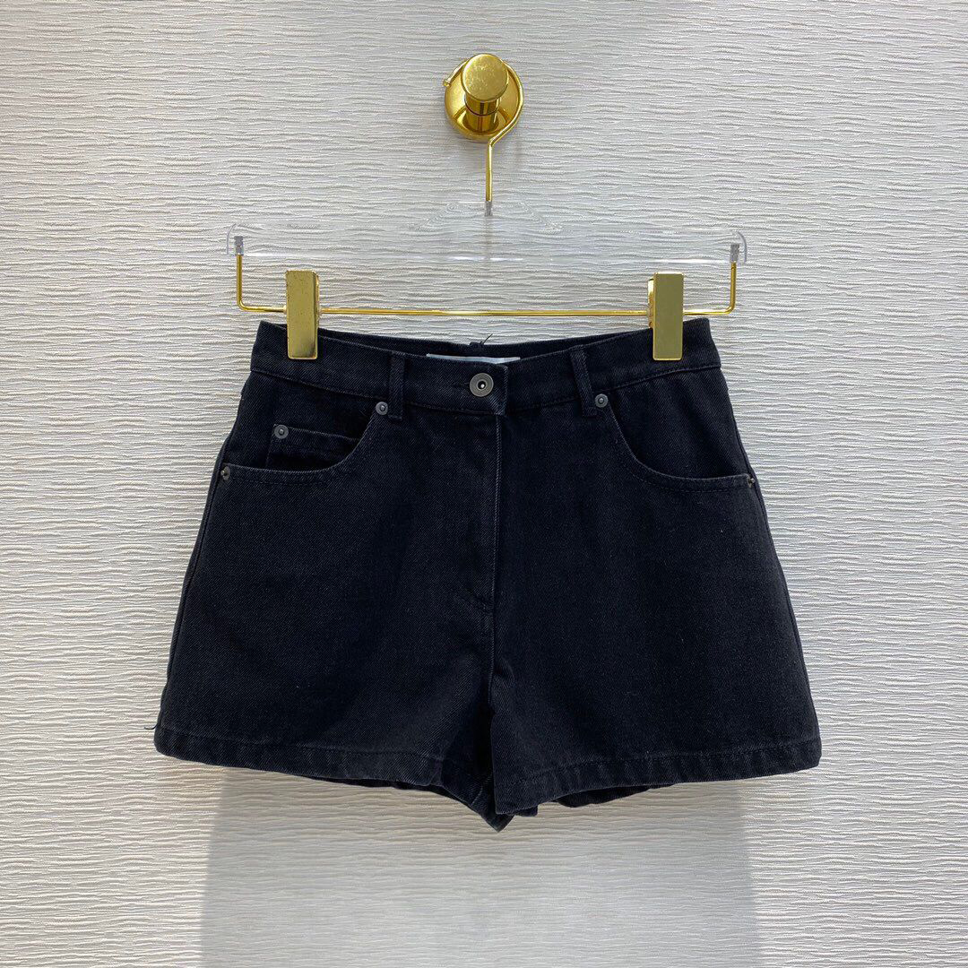2020 New Runway Design Casual Slim Black Denim Women Patchwork Pocket High Waist Summer Sexy Hot Short Jeans shorts 1