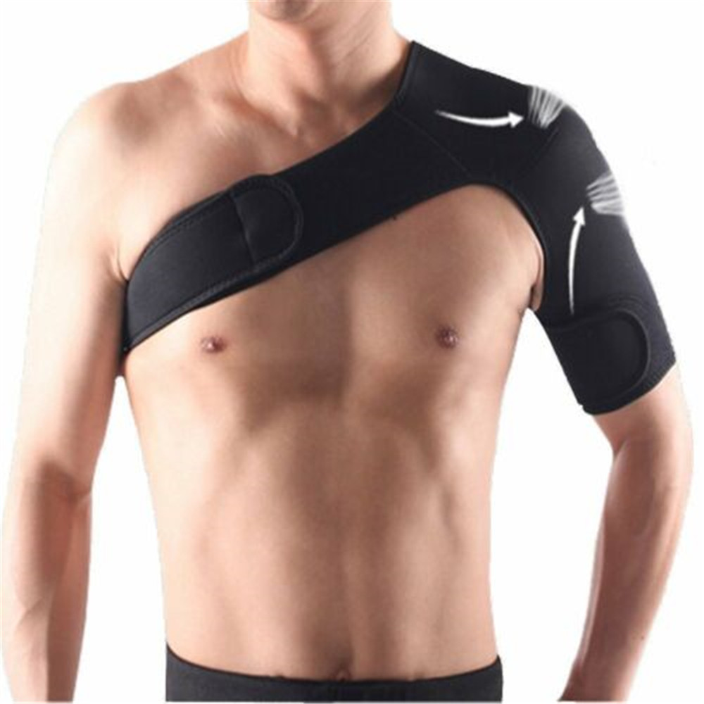 Adjustable Dislocated Shoulder Support Breathable Gym Sports Care Single Shoulder Support Back Brace Bodys Treatment