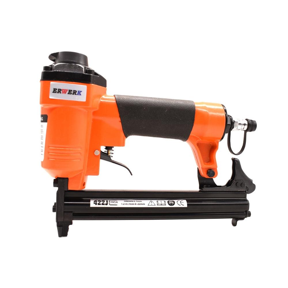 Tools : Air Stapler 410J-422J Pneumatic Staple Gun For Furniture Woodworking