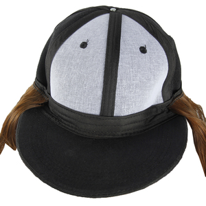 Image 5 - วิกผมสังเคราะห์หมวกเบสบอลหมวกสั้นตรงวิกผมสีบลอนด์สำหรับหญิงทนความร้อนเส้นใยตัดสั้น Wigs