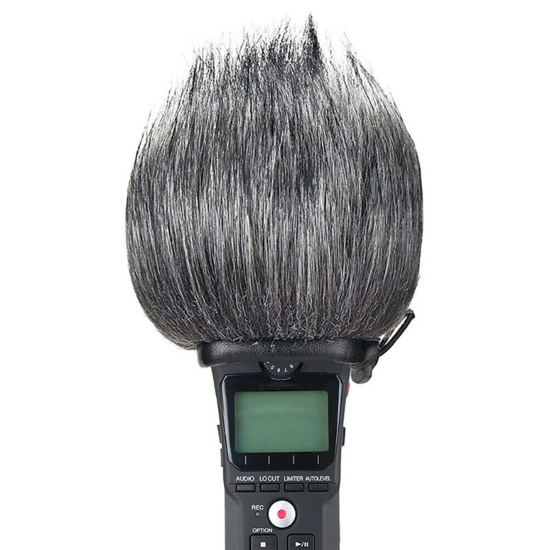 Recorder Furry Outdoor Windscreen Muff Pop Filter Wind Cover Shield Fits For Zoom H1 Handy Portable Recorder