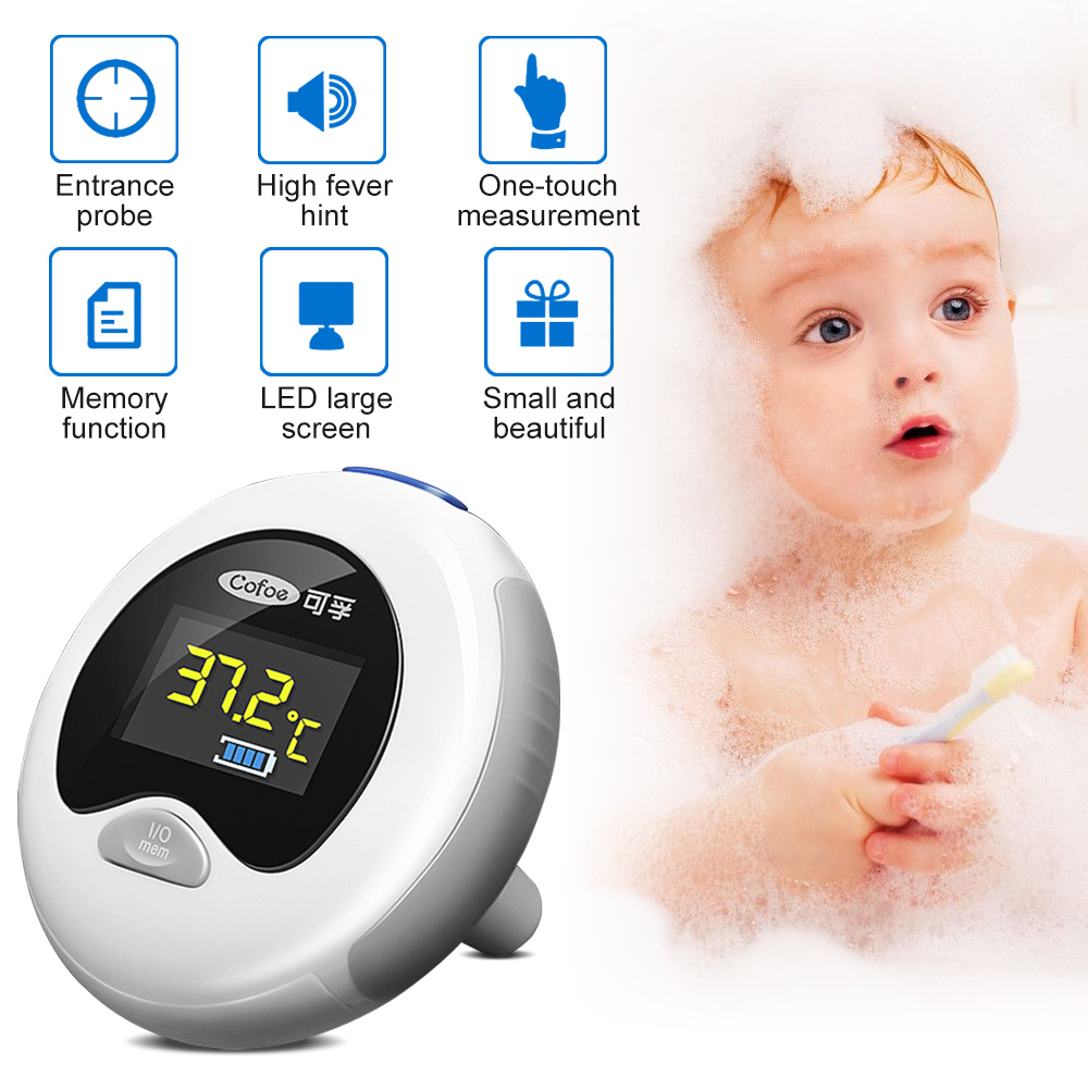 Cofoe Ear Thermometer Mini Digital Termometro Portable Pocket Infrared IR Termometr For Baby And Adult Medical Fever Termometer