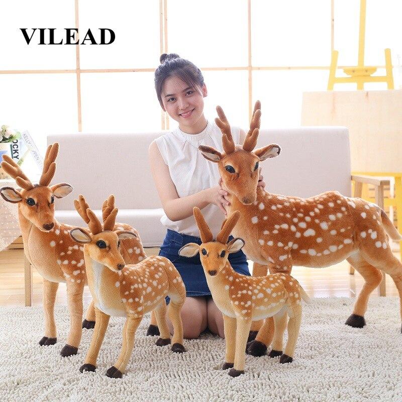 Stuffed Animals 90cm 75cm 50cm Sika Deer Soft Toys Kawaii Plush Pillow Toy Funny Cute Creative Simulation Gift Standing Ty Big