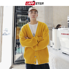 LAPPSTER Cardigan Men Kpop Clothes 2020 Man Harajuku Ulzzang Sweaters Casual Vintage Winter Sweater Long Sleeve Hip Hop Clothing