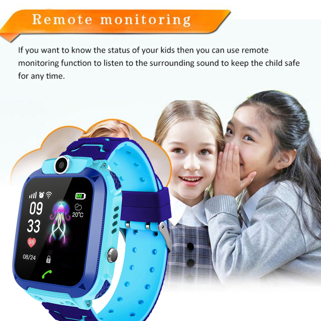 Image 5 - DS88 Kids Smart Watch Children Phone Watch IXP7 Waterproof SOS Call Monitor Touch Screen Anti Lost School Student Smart Watch-in Smart Watches from Consumer Electronics