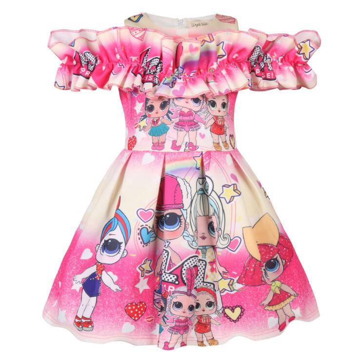 L.O.L. SURPRISE! Summer Girls Dress Kids Princess Girls Dress Party Costume Cosplay Fantasy Baby Girls Dresses