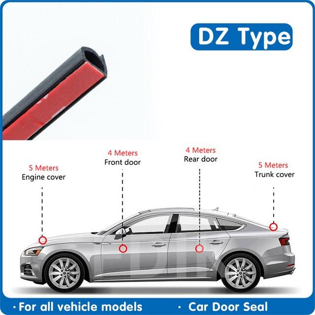 도어 씰 DZ 유형 자동차 도어 고무 보닛 엔진 씰링 스트립 자동차 트렁크 커버 자동차 고무 씰 자동차 방수 씰 자동