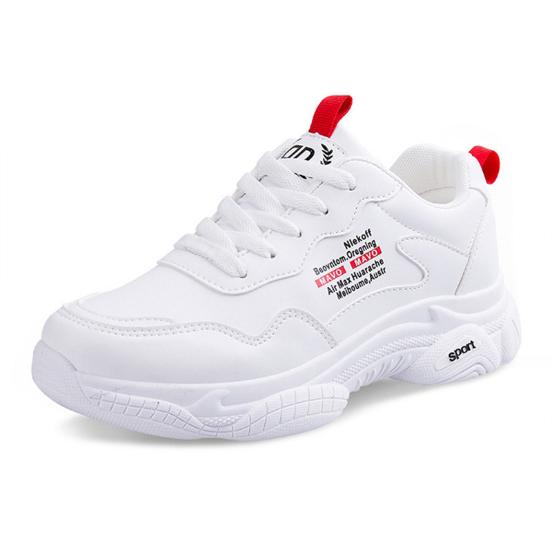 New White Sneakers Women Shoes Platform Vulcanize Shoes Chunky Casual Shoes Femme Krasovki Running Shoes Woman  NVX144