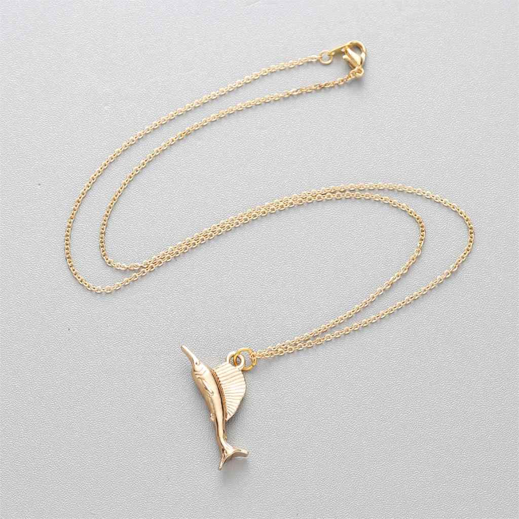 2 Colors Gold & Silver Deer Cat Shell Donkey Giraffe Whale Necklace Aniaml Pendant Necklace For Women Fashion Jewelry Gift