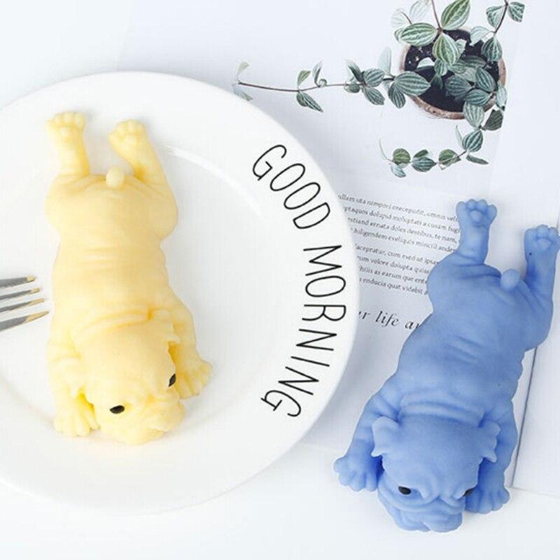 Антистрессовый милый щенок, мягкая игрушка, мопс, исцеляющая забава, каваи, игрушки для снятия стресса