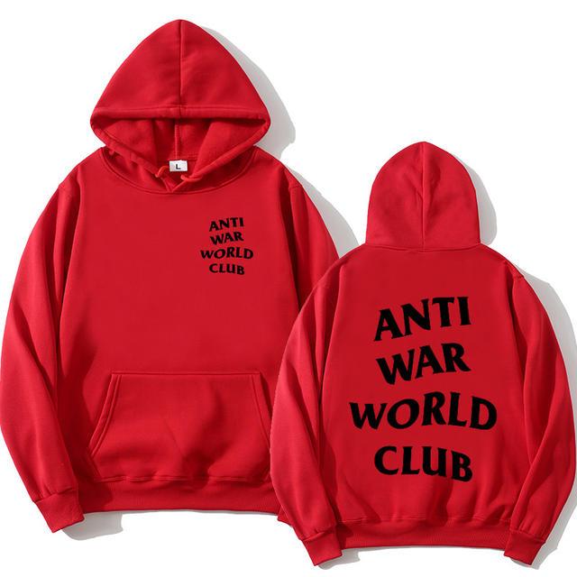 ANTI WAR WORLD CLUB THEMED HOODIE (18 VARIAN)