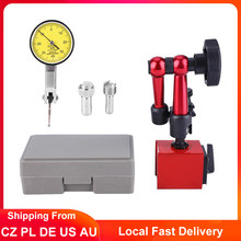 Mini indicador de prueba de Dial 0-0,8mm, soporte Universal de Base magnética, soporte de báscula de mesa, indicadores de precisión, herramienta para buscador central