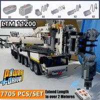 New MOC RC Crane Power Supply Functions LTM11200 Technic Engine MOC 20920 Building Kit Brick Blocks Diy Boys Toy Christmas Birth